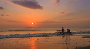 Il tramonto Fotografia Stock Libera da Diritti