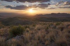 Il tramonto alla vista di Sotol trascura Fotografie Stock Libere da Diritti