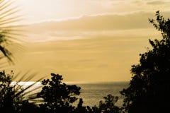 Il tramonto arancio Fotografia Stock Libera da Diritti