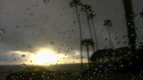 Il tramonto cade gli SWAMIS Encinitas la California video d archivio