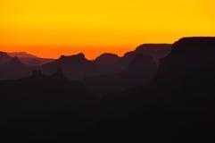 Il tramonto del grande canyon trascura Immagini Stock