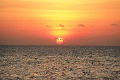 Il tramonto del mare di bellezza fotografia stock libera da diritti