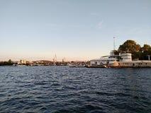 Il tramonto del mare di Criema si appanna bellezza di viaggio della ricreazione la bella Immagine Stock Libera da Diritti