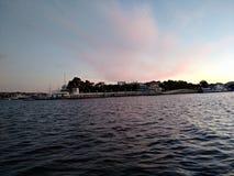 Il tramonto del mare di Criema si appanna bellezza di viaggio della ricreazione la bella Fotografie Stock