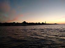 Il tramonto del mare di Criema si appanna bellezza di viaggio della ricreazione la bella Fotografia Stock