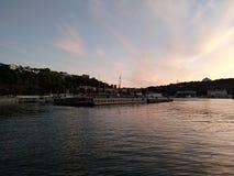 Il tramonto del mare di Criema si appanna bellezza di viaggio della ricreazione la bella Fotografia Stock Libera da Diritti