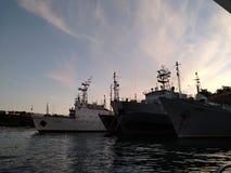 Il tramonto del mare di Criema si appanna bellezza di viaggio della ricreazione la bella Immagini Stock