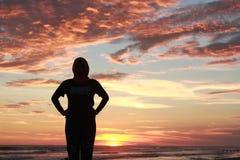 Il tramonto di bellezza immagine stock
