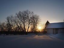 Il tramonto di inverno Immagini Stock