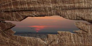Il tramonto di sera Fotografia Stock