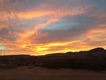 Il tramonto ha piovigginato cielo Fotografie Stock Libere da Diritti