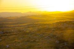 Il tramonto ha spleso giù sulla montagna di taihang fotografia stock