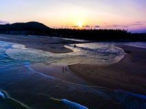 Il tramonto & l'acqua di marea Fotografia Stock Libera da Diritti