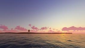 Il tramonto piacevole 3D rende Immagine Stock Libera da Diritti