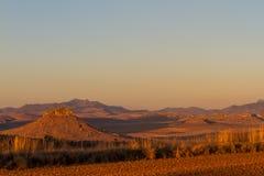 Il tramonto rurale, libera lo stato fotografie stock