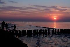 Il tramonto va Fotografie Stock