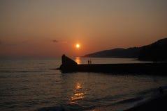 Il tramonto vede l'estate Fotografia Stock