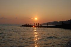 Il tramonto vede l'estate Fotografie Stock