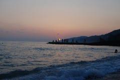 Il tramonto vede l'estate Immagini Stock