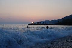 Il tramonto vede l'estate Fotografia Stock Libera da Diritti