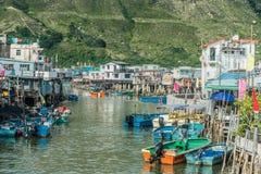 Il trampolo alloggia l'isola Hong Kong del Tai O Lantau Fotografie Stock Libere da Diritti