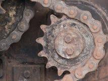 Il trasferimento chain del meccanismo Fotografia Stock