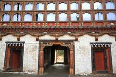 Il Trashigang Dzong Immagine Stock