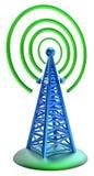 Il trasmettitore di Digital invia i segnali dall'alta torre Fotografie Stock