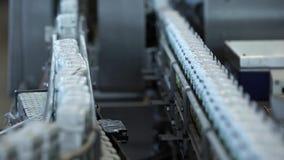Il trasportatore con imballaggio video d archivio