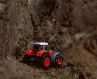 Il trattore del giocattolo Fotografia Stock