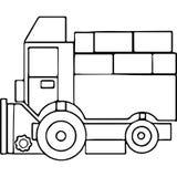 Il trattore scherza le figure geometriche che colorano la pagina Fotografie Stock Libere da Diritti