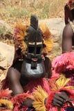 Il travestimento funereo della tribù di Dogon Fotografie Stock Libere da Diritti