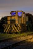 Il treno all'indicatore luminoso dei raccordi ha verniciato Fotografia Stock Libera da Diritti