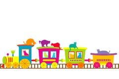 Il treno dei gatti Immagine Stock