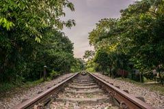 Il treno di Bukit Timah segue la lunga strada fotografia stock libera da diritti