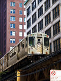 Il treno di EL del Chicago Fotografie Stock