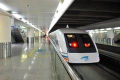 Il treno di Maglev inizia il funzionamento il 1° giugno 2010 Fotografia Stock Libera da Diritti