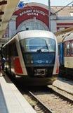 Il treno diesel di 11:15 a Dobritch Fotografia Stock