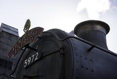 Il treno espresso di Hogwarts Fotografie Stock