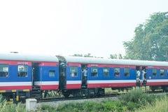 Il treno in India Immagini Stock