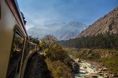 Il treno a Machu Picchu Immagini Stock