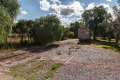 Il treno segue il Mendoza Immagine Stock Libera da Diritti