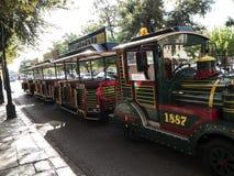 Il treno turistico di vecchia città nella città di Corfù sull'isola greca di Corfù Fotografia Stock