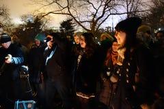 Il trentaquattresimo anniversario della morte di John Lennon a Strawberry Fields 15 Immagini Stock Libere da Diritti
