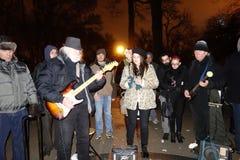 Il trentaquattresimo anniversario della morte di John Lennon a Strawberry Fields 54 Immagini Stock Libere da Diritti