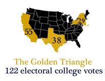 Il triangolo dorato Fotografia Stock Libera da Diritti