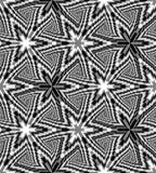 Il triangolo monocromatico senza cuciture si sviluppa a spirale modello Fondo poligonale astratto geometrico Illusione ottica del Immagine Stock