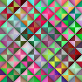 Il triangolo multicolore senza cuciture di pendenza di vettore piastrella il modello geometrico Immagini Stock