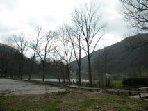 il tributario del ruscello nel lago, natura intatta fotografia stock libera da diritti