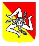 Il Triscele, simbolo della Sicilia Fotografia Stock Libera da Diritti